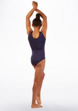Justaucorps de gymnastique sans manches Hannah Alegra Bleue arriere. [Bleue]