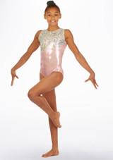 Justaucorps de gymnastique Waltzer Alegra Rose avant. [Rose]