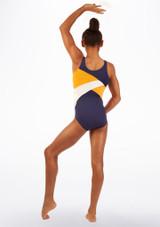 Justaucorps de gymnastique pour filles So Danca Salus Bleue arriere. [Bleue]