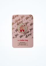 Pin's pointes a paillettes Ballet Bag Rose avant #2. [Rose]