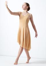 Robe lyrique a encolure degagee pour adolescente Cordelia Move Dance Fauve arriere. [Fauve]