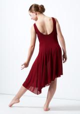 Robe lyrique a encolure degagee pour adolescente Cordelia Move Dance Rouge arriere. [Rouge]