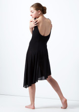 Robe lyrique a encolure degagee pour adolescente Cordelia Move Dance Noir avant #2. [Noir]