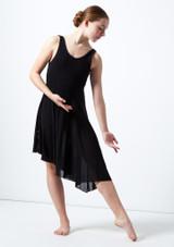 Robe lyrique a encolure degagee pour adolescente Cordelia Move Dance Noir avant. [Noir]
