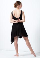 Robe lyrique fente haute pour adolescente Elara Move Dance Noir arriere. [Noir]