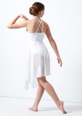 Robe lyrique croisee dans le dos pour adolescente Atlas Move Dance Blanc arriere. [Blanc]