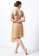 Robe lyrique croisee dans le dos pour adolescente Atlas Move Dance Fauve arriere. [Fauve]