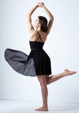 Robe lyrique croisee dans le dos Ariel Move Dance Noir arriere. [Noir]