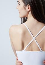 Robe lyrique croisee dans le dos Ariel Move Dance Blanc arriere #2. [Blanc]