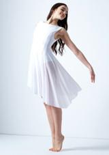 Robe lyrique asymetrique Pandora Move Dance Blanc avant. [Blanc]