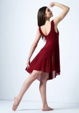 Robe lyrique asymetrique Pandora Move Dance Rouge arriere. [Rouge]
