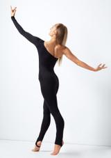 Academique asymetrique manche longue Ali Move Dance Noir arriere. [Noir]