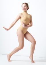 Culotte de danse pour adolescente Ersa Move Dance Fauve avant. [Fauve]
