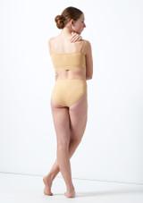 Crop top a bretelles pour adolescente Calypso Move Dance Fauve arriere. [Fauve]
