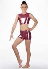 Haut court gymnastique metallique pour filles Alegra Rose avant. [Rose]