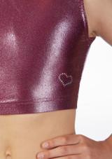 Haut court gymnastique metallique pour filles Alegra Rose superieure. [Rose]