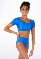 Haut de Danse Brilliant Alegra Odele Bleue avant.