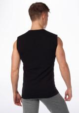 Debardeur Sans Couture Move Alvaro pour Hommes Noir #2. [Noir]