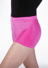 Short de gymnastique en velours Tappers & Pointers Rose avant #2. [Rose]