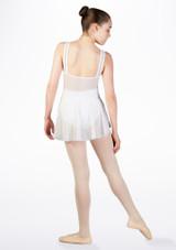 Jupe de danse en dentelle florale pour ados So Danca Blanc #2. [Blanc]