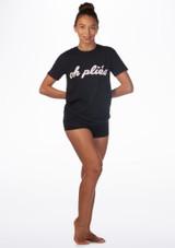 T-shirt de danse Kelham Plie Noir avant. [Noir]