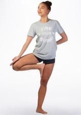 T-shirt de danse Kelham Balance Gris laterale. [Gris]