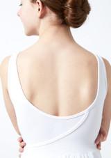 Robe lyrique ajouree pour adolescente Titania Move Dance Blanc avant #2. [Blanc]