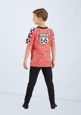 Weissman Route 66 Boys T-Shirt Rose arriere. [Rose]