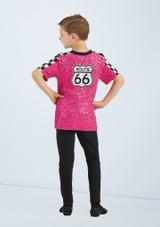Weissman Route 66 Boys T-Shirt Rose arriere #2. [Rose]