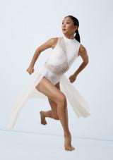 Weissman Laser Cut Dress Blanc avant. [Blanc]
