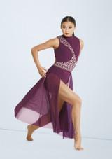 Weissman Laser Cut Dress Violet avant. [Violet]