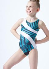 Justaucorps de gymnastique Morisot pour fille So Danca Bleue avant. [Bleue]