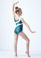 Justaucorps de gymnastique Morisot pour fille So Danca Bleue arriere. [Bleue]
