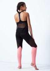 Haut de danse sans manches en maille transparente pour adolescente Bloch Noir arriere. [Noir]
