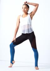 Haut de danse sans manches en maille transparente Bloch Blanc avant. [Blanc]