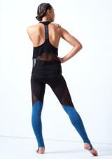 Haut de danse sans manches en maille transparente Bloch Noir arriere. [Noir]