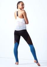 Haut de danse sans manches en maille transparente Bloch Blanc arriere. [Blanc]