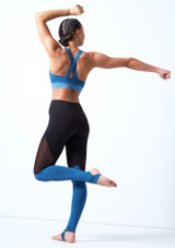 Legging de danse a empiecements Bloch Bleue arriere. [Bleue]