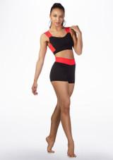 Brassiere fitness Dansez Noir-Rouge avant.