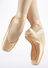 Pointes Bloch Amelie Rose laterale. [Rose]