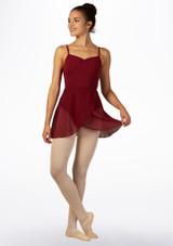 Jupe de Danse Portefeuille Mi-longue Move Tilly Rouge avant. [Rouge]
