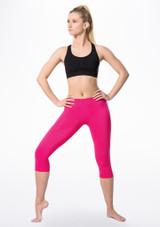 Legging court capri sans couture Move Dance Ines Rose avant. [Rose]