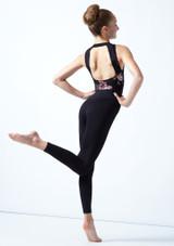 Académique de danse sans manches ados maille fleurie Move Dance Jupiter Noir  Arrière-1 [Noir ]