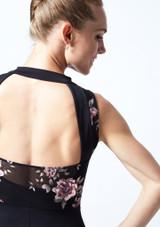 Académique de danse maille fleurie Move Dance Jupiter Noir  Détail arrière-1 [Noir ]