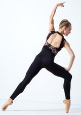 Académique de danse maille fleurie Move Dance Jupiter Noir  Arrière-1 [Noir ]