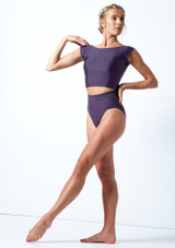 Culotte de danse taille haute Move Dance Elouise Grape  Avant-1 [Grape ]