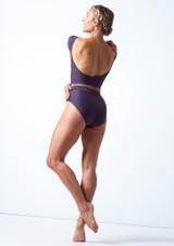 Culotte de danse taille haute Move Dance Elouise Grape  Arrière-1 [Grape ]