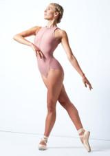 Justaucorps de danse zippé Move Dance Penelope Rose  Avant-1 [Rose ]