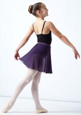 Jupe de danse en mousseline ados Move Dance Adaline Crème Avant-1 [Crème]