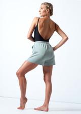 Short de danse en Jersey Move Dance Cassandra Sarcelle  Arrière-1 [Sarcelle ]